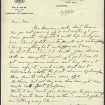 """18 May 1899: Letter from John Daly to Thomas Clarke, referring to local Limerick politics as """"small and contemptible"""""""