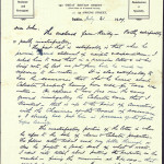 21 July 1909: Letter from Thomas Clarke to John Daly-1