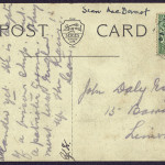 "22 August 1914: Postcard from Seán MacDiarmada to John Daly: ""Up the Kaiser!""-2"