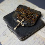 Catherine Daly's rosary beads with her son's last letter and note case